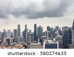 cityscape under cloudy sky of... | Shutterstock . vector #580274635