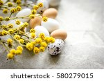 easter card with eggs and... | Shutterstock . vector #580279015