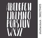 calligraphic vector font.... | Shutterstock .eps vector #580279495