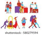 traveling people vector... | Shutterstock .eps vector #580279594