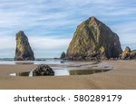 Haystack Rock And Other Sea...