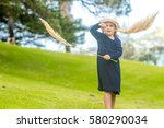 outdoor portrait of young child ... | Shutterstock . vector #580290034