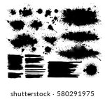 set of ink spots. vector | Shutterstock .eps vector #580291975