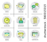manager business team resume... | Shutterstock .eps vector #580315315
