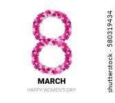 8 march international women day ... | Shutterstock .eps vector #580319434
