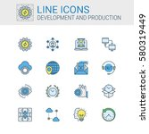 simple icons set of development ... | Shutterstock .eps vector #580319449