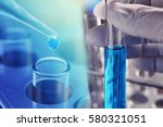 research chemistry test tube at ... | Shutterstock . vector #580321051