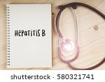 stethoscope with hepatitis b...