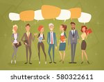 business people group chat... | Shutterstock .eps vector #580322611
