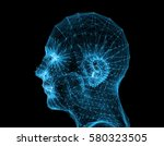 science and technology art line ...   Shutterstock . vector #580323505