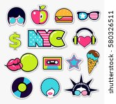 set of american trendy color... | Shutterstock .eps vector #580326511