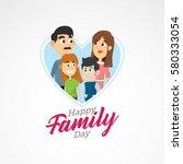 happy family day vector... | Shutterstock .eps vector #580333054
