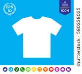 men's t shirt icon   the... | Shutterstock .eps vector #580338025