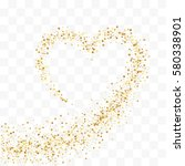 confetti cover from gold stars. ... | Shutterstock .eps vector #580338901