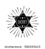 sheriff star isolated on white  ... | Shutterstock .eps vector #580345615