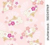 seamless pattern of oriental...