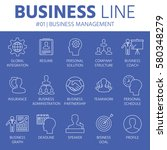 thin line icons set of business ... | Shutterstock .eps vector #580348279