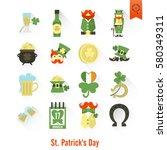 saint patricks day isolated... | Shutterstock .eps vector #580349311