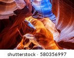 image from antelope canyon that ... | Shutterstock . vector #580356997