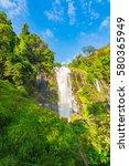wachirathan water fall at doi... | Shutterstock . vector #580365949