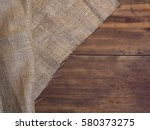arrangement of old wooden... | Shutterstock . vector #580373275