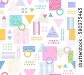 pastel geometric seamless... | Shutterstock .eps vector #580375465