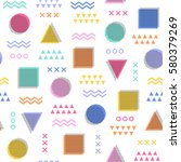 colorful geometric seamless... | Shutterstock .eps vector #580379269