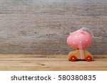 easter holiday concept with egg ... | Shutterstock . vector #580380835