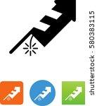 vector fireworks icon | Shutterstock .eps vector #580383115