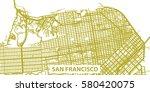 detailed vector map of san... | Shutterstock .eps vector #580420075