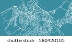 detailed vector map of... | Shutterstock .eps vector #580420105