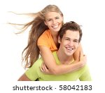 Happy Smiling Couple In Love....