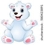 vector illustration of cartoon... | Shutterstock .eps vector #580423891
