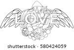 vector illustration of love... | Shutterstock .eps vector #580424059