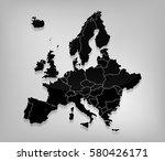 detailed europe vector map on...   Shutterstock .eps vector #580426171