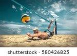 beach volleyball player in... | Shutterstock . vector #580426825