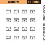 internet window flat icon set....