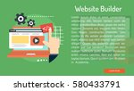 website builder conceptual... | Shutterstock .eps vector #580433791