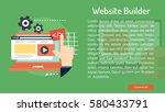 website builder conceptual... | Shutterstock .eps vector #580433791