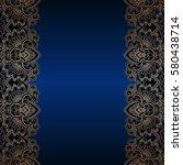 vector vintage floral... | Shutterstock .eps vector #580438714
