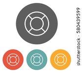 lifebuoy icon    Shutterstock .eps vector #580439599