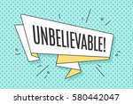 ribbon banner with text... | Shutterstock . vector #580442047