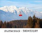 ski lift in alps  beautiful... | Shutterstock . vector #580453189