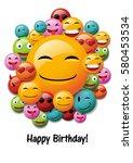 happy birthday  greeting card...   Shutterstock .eps vector #580453534