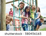 portrait of school pupils... | Shutterstock . vector #580456165