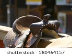 Brown Leather Saddle   Western...