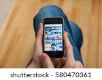 kyiv   february 11  hand... | Shutterstock . vector #580470361