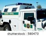 border patrol vehicle. | Shutterstock . vector #580473