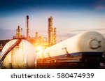 oil and gas refinery storage... | Shutterstock . vector #580474939