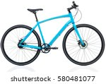new blue bicycle isolated on a... | Shutterstock . vector #580481077